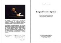 Langue française et poésie, Robert Notenboom