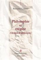 Philosophie et exégèse, Bernard Grasset
