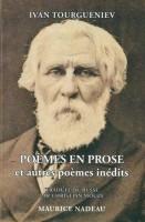 Poèmes en prose, et autres poèmes inédits, Ivan Tourgueniev (par Patryck Froissart)