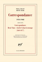 Paul Celan, René Char: Correspondance (1954-1968)
