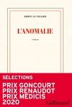 L'Anomalie, Hervé Le Tellier (par Jean-Paul Gavard-Perret)