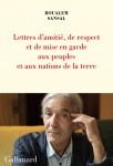 Lettre d'amitié, de respect et de mise en garde aux peuples et aux nations de la Terre, Boualem Sansal (par Gilles Banderier)