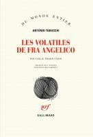 Les volatiles de Fra Angelico, Antonio Tabucchi (par Philippe Leuckx)