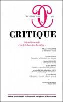 Michel Foucault, Un très beau feu d'artifice, Revue Critique n°835