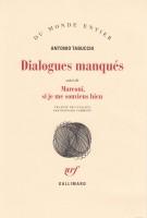 Dialogues manqués, Antonio Tabucchi
