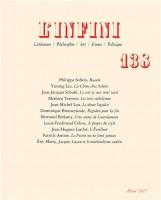 L'Infini – 138 – Revue (Gallimard) - Ph. Chauché