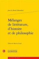 Mélanges de littérature - d'Alembert (Garnier) - G. Banderier