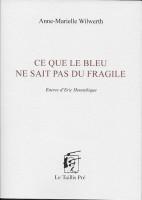 Ce que le bleu ne sait pas du fragile, Anne-Marielle Wilwerth (par Philippe Leuckx)