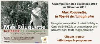 Max Rouquette ou la liberté de l'imaginaire Exposition de la Médiathèque centrale Émile Zola, Montpellier