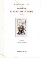 À propos de La signature du temps, poèmes, Annie Dana, par Michel Host