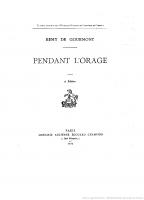 Pendant l'Orage, Remy de Gourmont (1915)