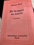 De la mort au matin, Thomas Wolfe (par Léon-Marc Levy)