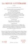 La Revue Littéraire N°65 et L'Infini, N°137