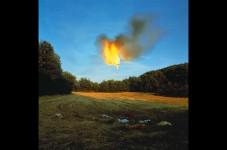 A propos d'une image photographique - Le feu de Bernard Faucon