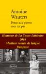 Pense aux pierres sous tes pas, Antoine Wauters, (par Léon-Marc Levy)