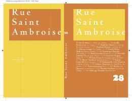 Revue Rue Saint Ambroise N° 28