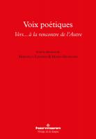 Voix poétiques, Vers… à la rencontre de l'Autre (Hermann)